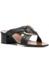 Chloé heels slide sandals in black leather