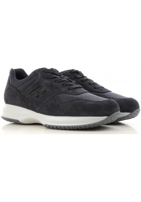 8cc18d8828e Hogan Interactive men's sneakers in dark blue suede - Italian Boutique