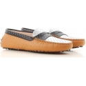 Tod's women's driving moccasins shoes in multicolor leather