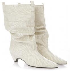 Stella McCartney midcalf booties in python print vegan