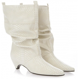 Stella McCartney midcalf booties in python print vegan