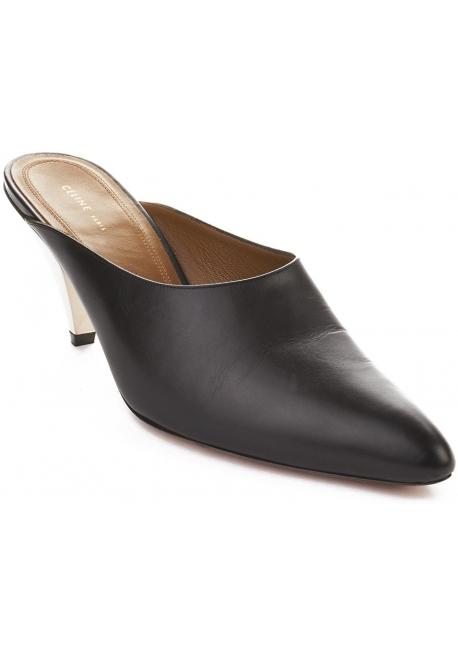 Céline mules sandals in black calf leather