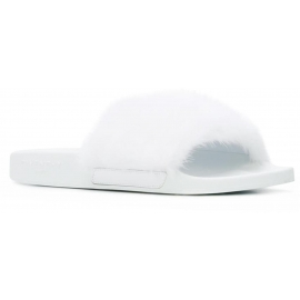 Givenchy women's slippers in white leather and fur