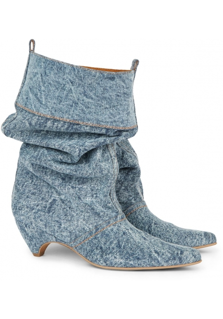 Stella McCartney women's Denim Fabric midcalf booties shoes