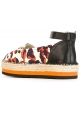 MSGM ankle strap espadrilles in animal print canvas