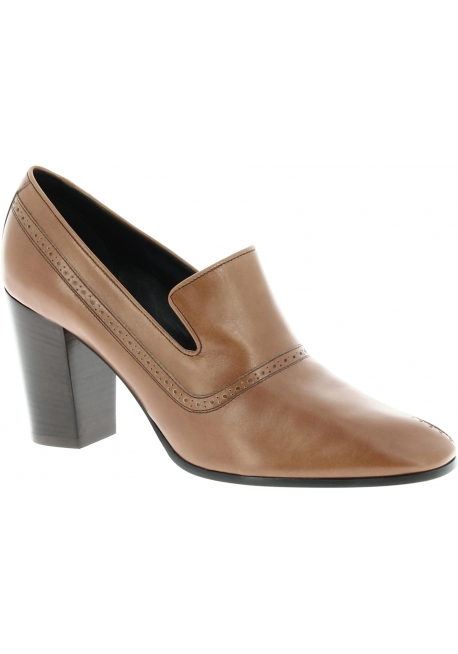 Céline loafer whit heel in brown Calf leather