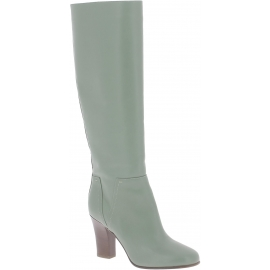 Valentino women's knee high boots in Olive Green Leather