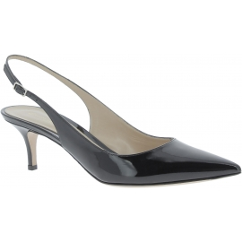 Gianvito Rossi women's slingbacks in black patent leather