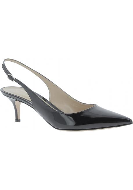 Gianvito Rossi women's slingbacks in black patent leather