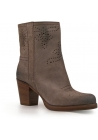 Car Shoe women's beige suede leather midcalf booties shoes