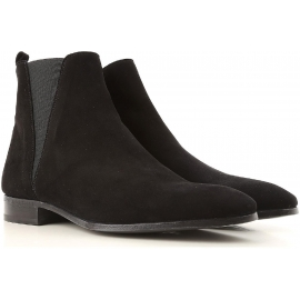 Dolce&Gabbana men's ankle boots in black calf leather with zip