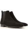 Dolce&Gabbana men's ankle boots in black calf leather whit zip