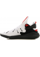 Y3 man's sneakers in white technical fabric with black rubber sole