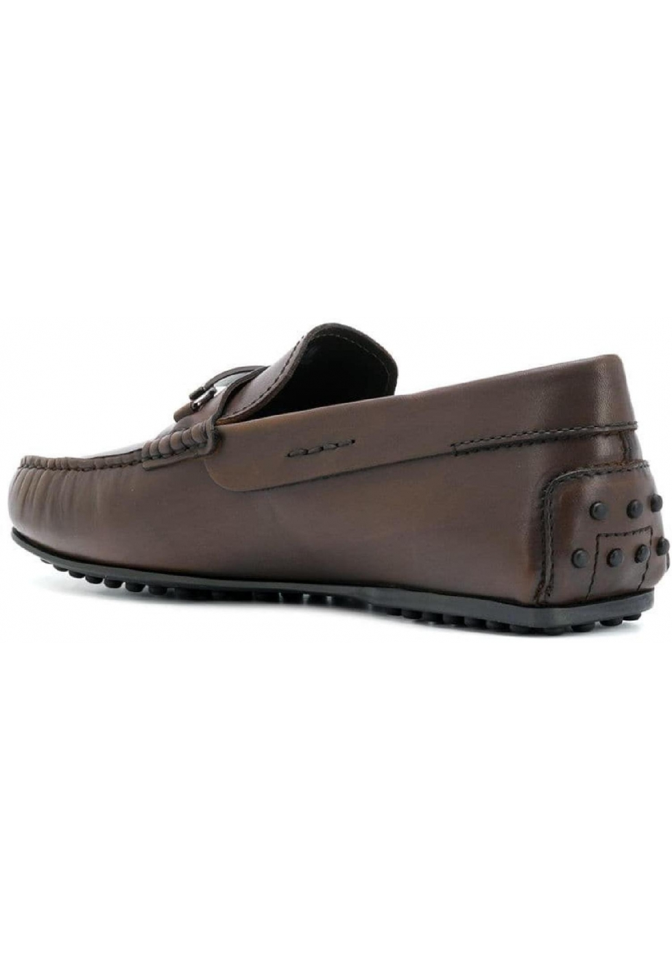 53cebfe3e7c Tod s men s moccasins in Chocolate Leather with metallic buckle ...