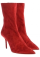 Aquazzura women's midcalf booties in Medium Red Suede leather