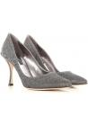 Dolce&Gabbana women's classic pumps in lurex effect silver textile fiber