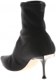 Sergio Rossi women midcalf booties in black Tech fabric with metallic heel