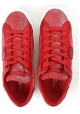 Philippe Model women's sneaker in red calf leather with white rubber sole