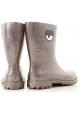 Chiara Ferragni Women's mid-calf ankle boots in multicolored rubber