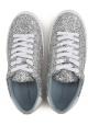 Chiara Ferragni women's sneakers in silver Glitter with high platform
