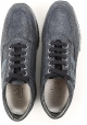 Hogan Ineractive women's sneakers in black glitter leather and strass