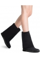 Casadei women's midcalf booties in black Suede leather