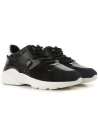 Hogan women's sneakers in black Leather and strass