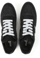 Hogan women's sneakers in glittery black Leather Fabric