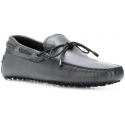 Tod's men's moccasins in Dark Gray Leather with laces