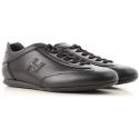 Hogan OLYMPIA SLASH low man's Sneakers in black leather
