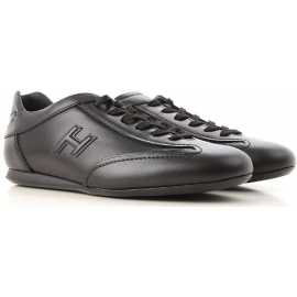 Hogan OLYMPIA SLASH low man's Sneakers in black leather