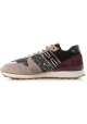 Hogan R261 ALLACCIATO woman's sneakers in multicolor suede leather