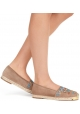 Giuseppe Zanotti women espadrilles in Light Brown Chamois leather