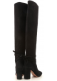Aquazzura MILANO BOOT 85 woman's black knee high boots with block heel