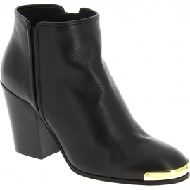 Zanotti heels ankle booties in black Leather with golden details