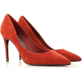 Dolce&Gabbana Women's High heel stiletto Classic pumps in Burnt Suede leather
