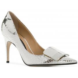 Sergio Rossi Women's classic stiletto pumps in silver Laminated calf leather