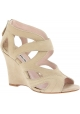 Miu Miu wedges sandals in sand suede leather