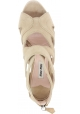 Miu Miu wedges sandals in sand suede leather