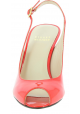 Stuart Weitzman Women's open toe stiletto sandals in bright red patent leather