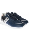 Hogan women's low top sneakers shoes in blue leather