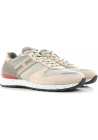 Hogan men's low top sneakers shoes in beige leather