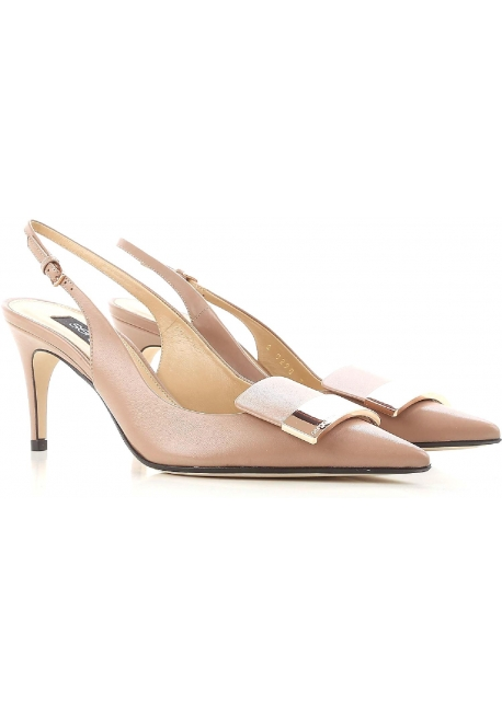 Sergio Rossi heels slingback pumps in powder leather