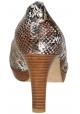 Stuart Weitzman pumps open toe in brown python skin