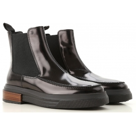 Tod's GOMMA TRONCH woman's chelsea boots in black patent leather