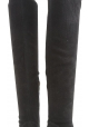 Sergio Rossi woman's over the knee boots in black suede with stilettos