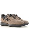 Hogan INTERACTIVE men's sneakers in light brown nabuk leather