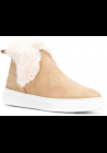 Hogan H366 SLIP ON women's booties in pink leather with fur