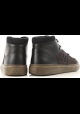 Hogan H365 man's high top sneakers in dark brown nabuck leather