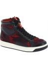 Prada Women's high top camouflage print sneakers in red/black Leather Fabric